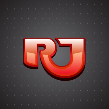 R and J letters ligature sign