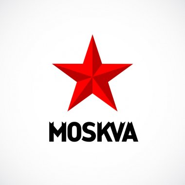 Moscow emblem with red star