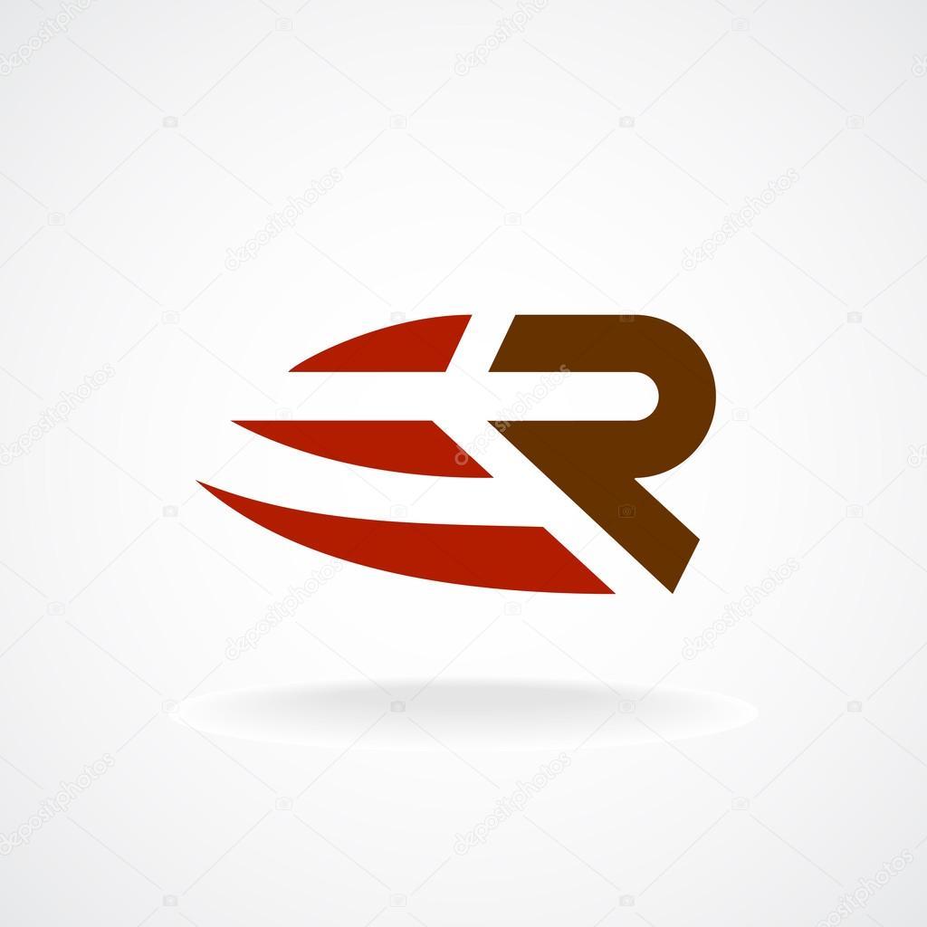 r letter logo template stock vector