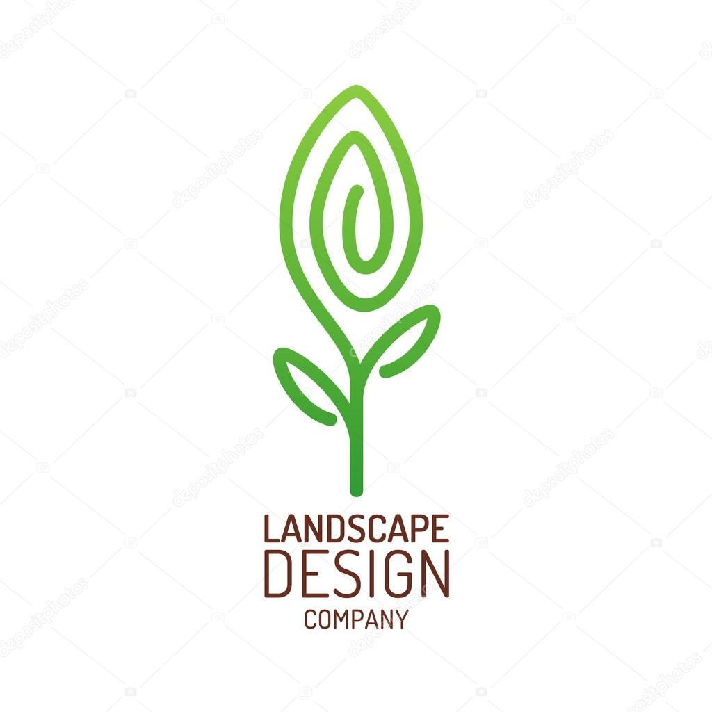 Plantilla de logotipo de diseño de paisaje — Vector de stock ...