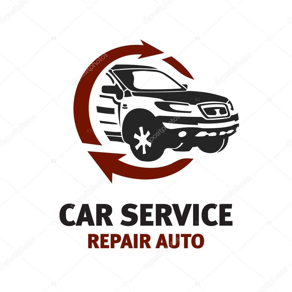Plantilla de logotipo de servicio de coche — Vector de stock ...