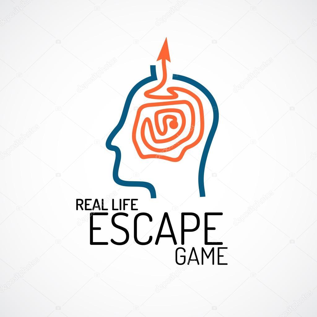 実際の生活脱出クエスト ロゴ– ストックイラスト
