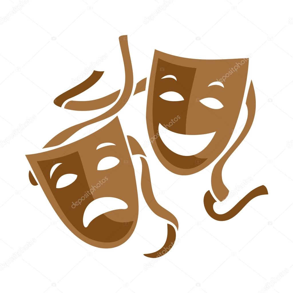 comedy and tragedy theater masks stock vector kilroy 65686057 rh depositphotos com Comedy and Tragedy Masks Drawing Comedy Tragedy Vector Line