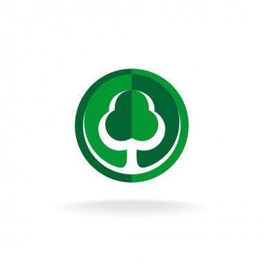 Green oak tree logo template
