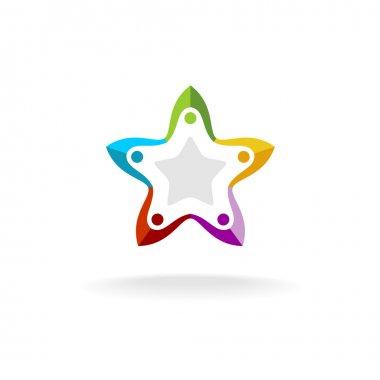 People in a star shape