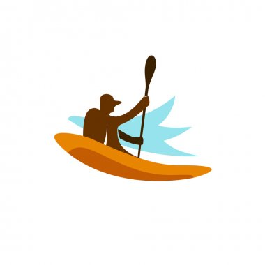 Download One Kayak Icon Free Vector Eps Cdr Ai Svg Vector Illustration Graphic Art