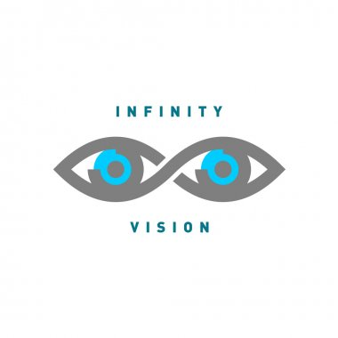 Eyes in the infinity sign