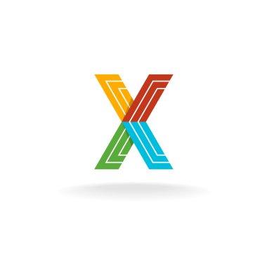 Letter X technology logo