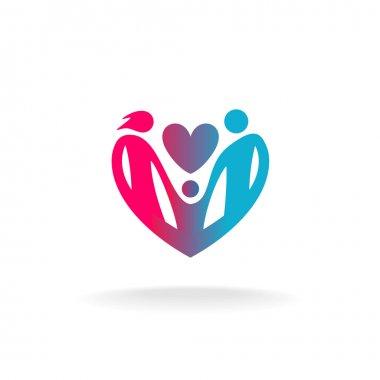 People in a heart shape