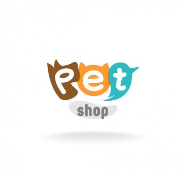 Pet shop logo template