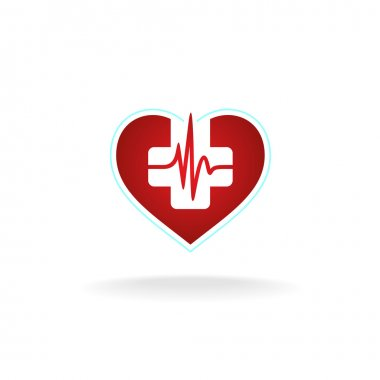 Heart logo with medical cross