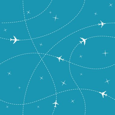 Planes with trajectories and stars
