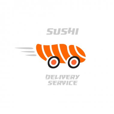 Sushi delivery service logo