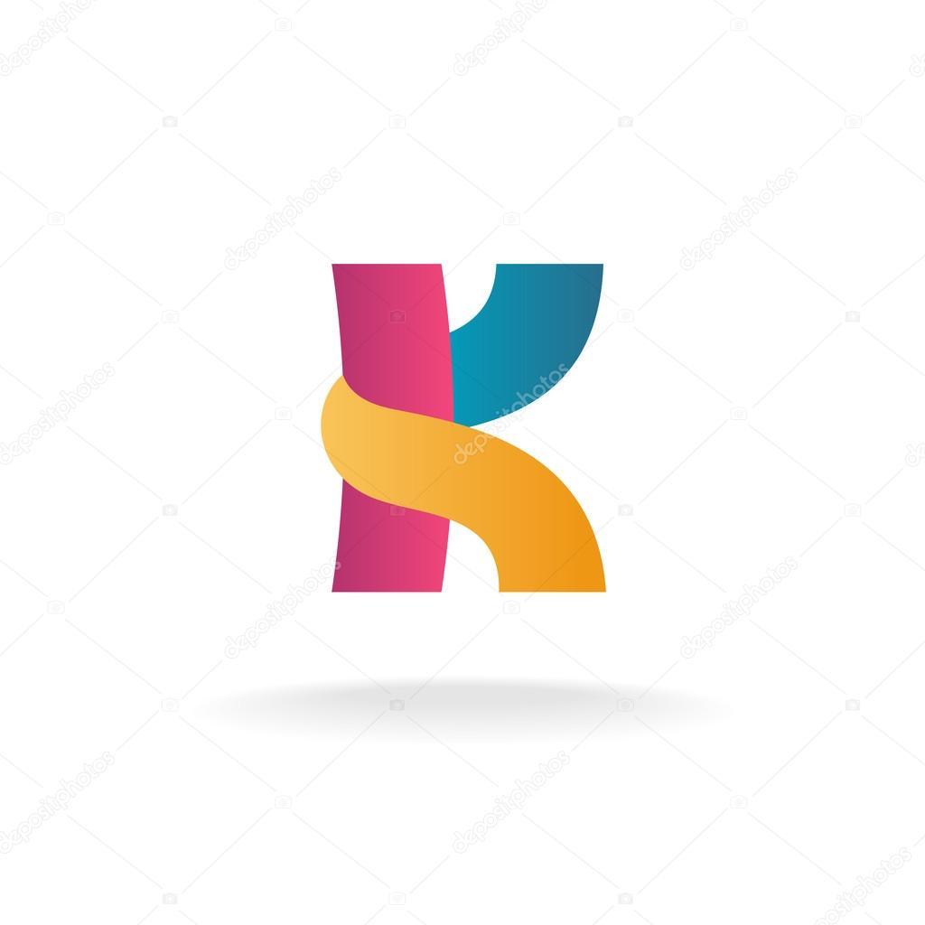 letter k logo template stock vector