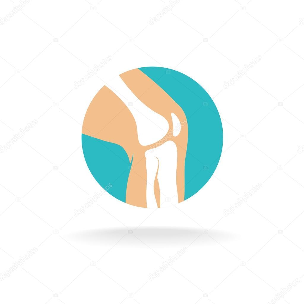 Knee Joint Logo — Stock Vector © Kilroy #69635779