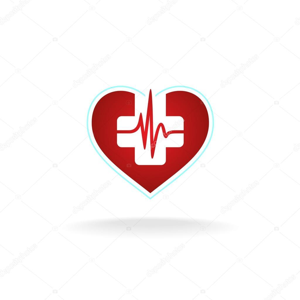 heart logo with medical cross � stock vector 169 kilroy