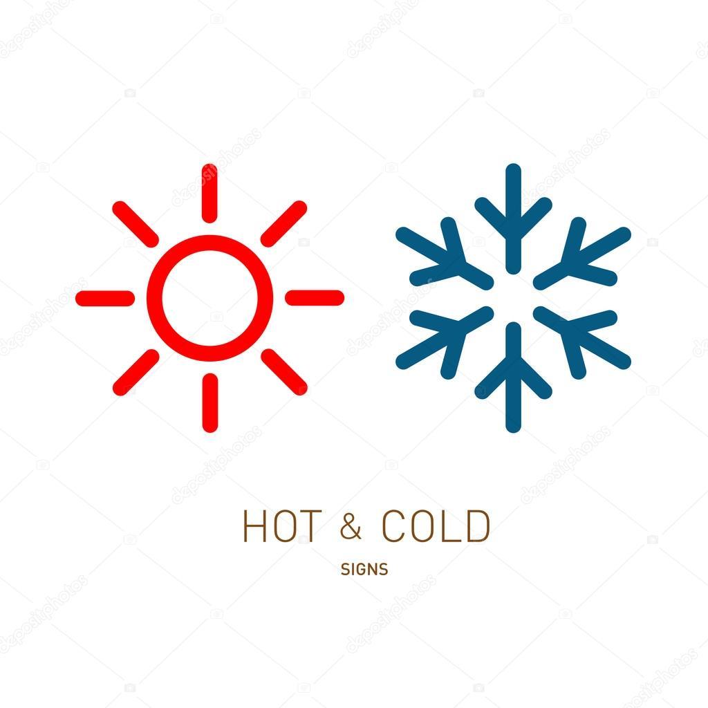 Sun and snowflake icons