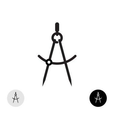 Compass divider symbol