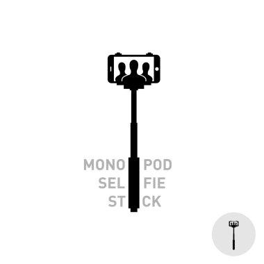 Selfie monopod stick symbol