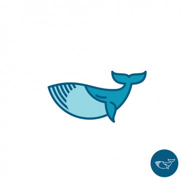 Whale simple outline