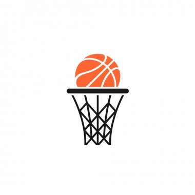 Basket and ball logo
