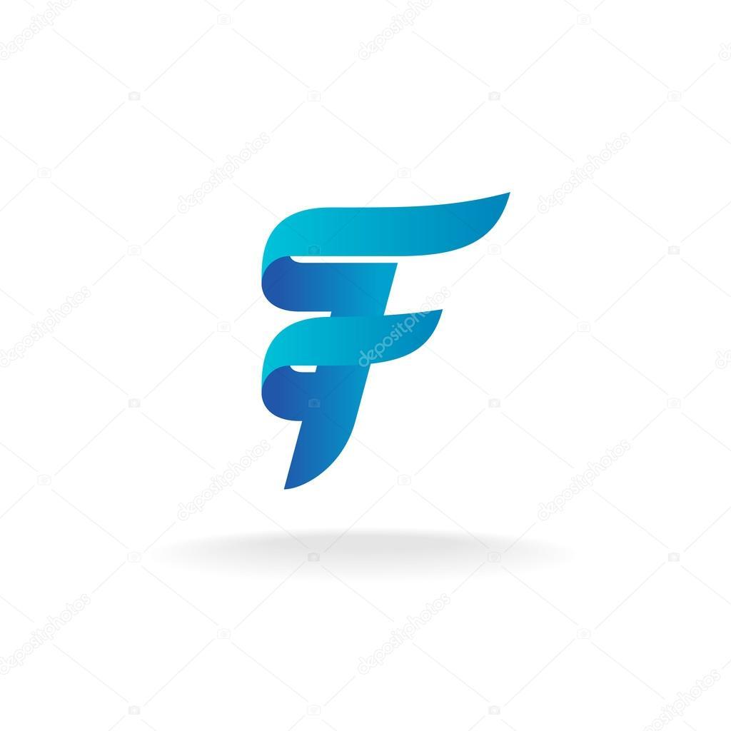 letter f logo � stock vector 169 kilroy 75544613