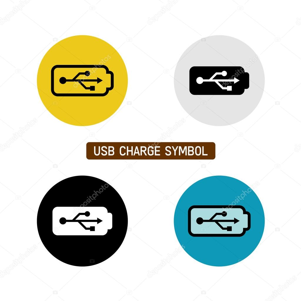 Usb charge symbol stock vector kilroy 75545857 usb wire battery charge symbol variations with different icon color on white background vector by kilroy biocorpaavc Images