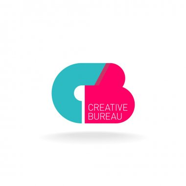 Letters C and B logo