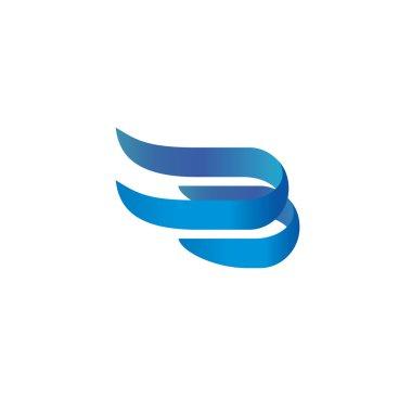 elegant ribbons style logo