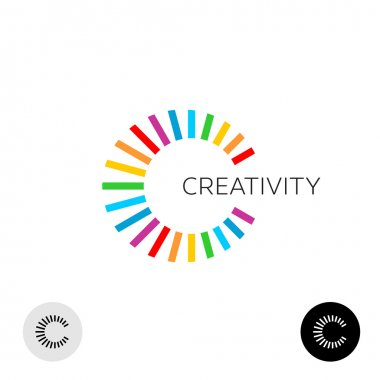 Letter C creative colorful logo template