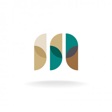 Letter M overlay style logo