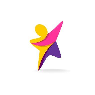 Man reach logo