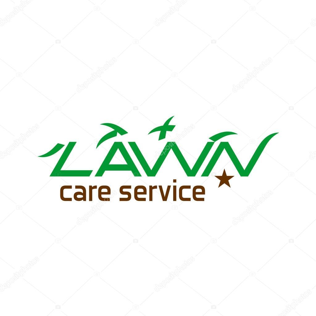 lawn care logo stock vector