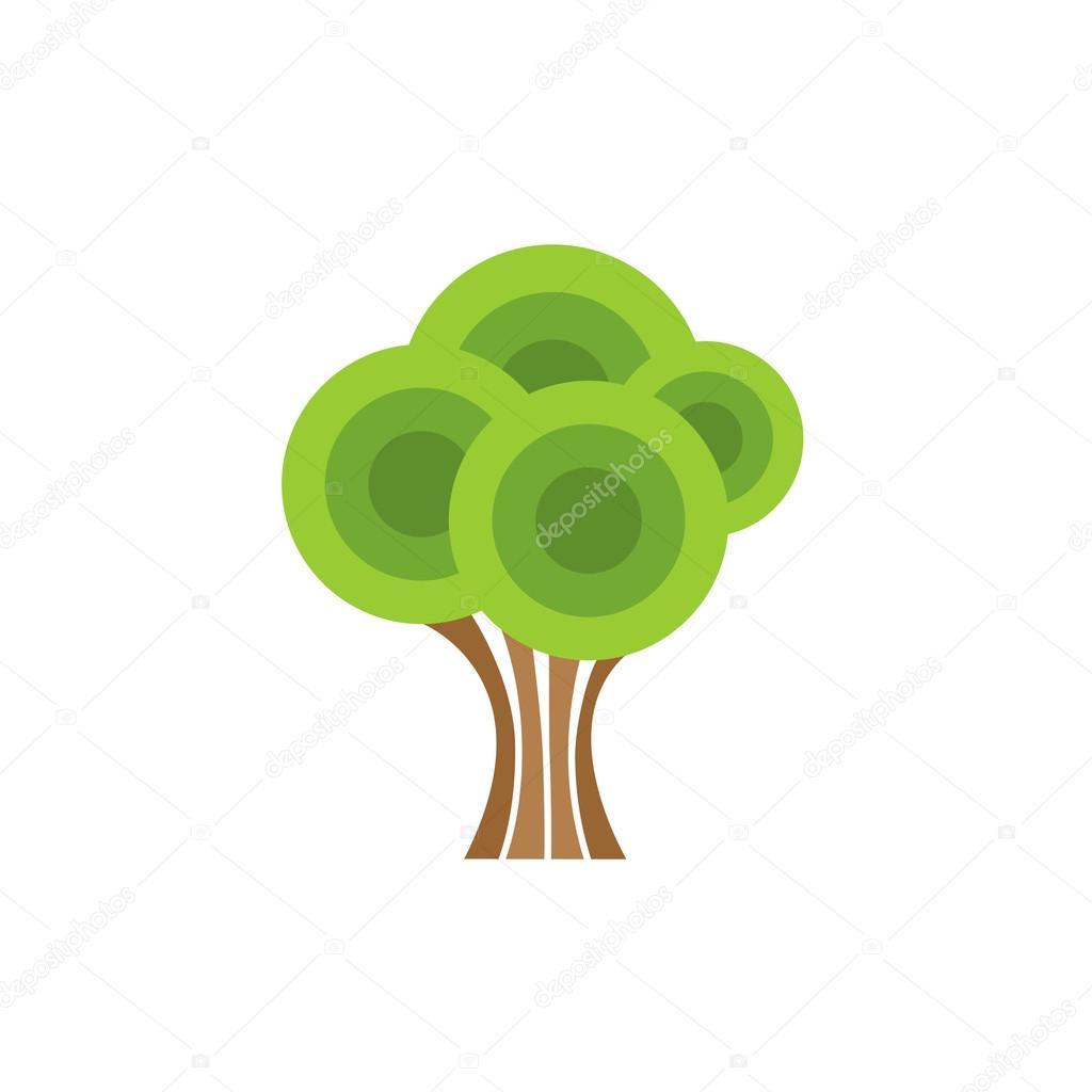 oak tree abstract geometric shapes u2014 stock vector kilroy 79937858