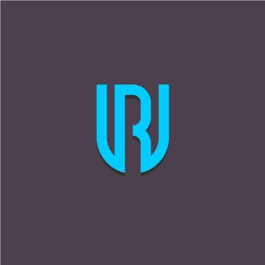 Letters U and R logo