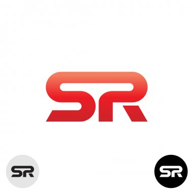 Two letters S and R ligature logo