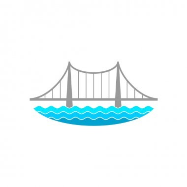 Bridge over the river logo