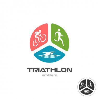 Triathlon sport logo.