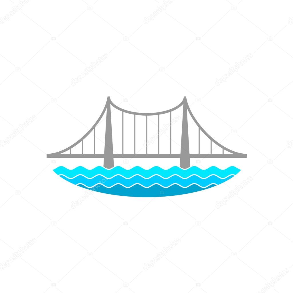 Bridge over the river logo