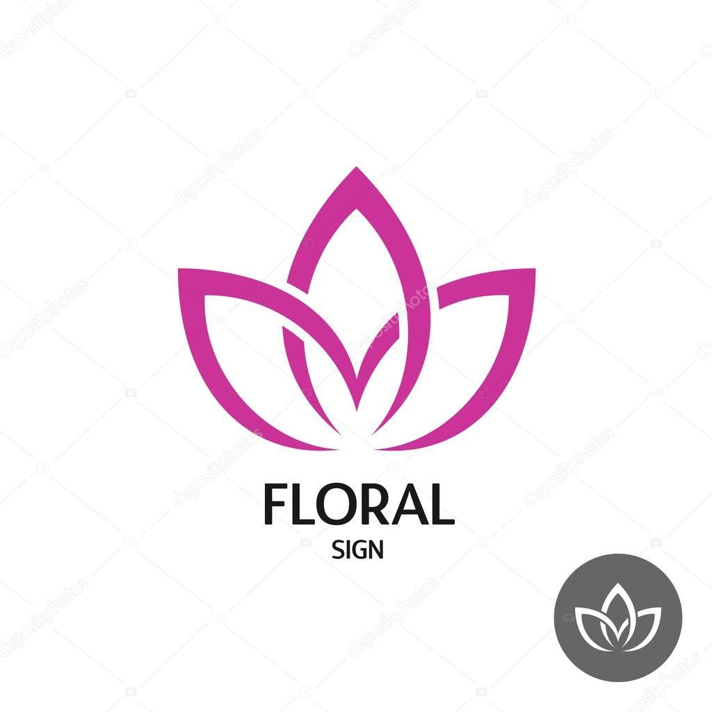Excepcional Logotipo de flores con hojas de tres — Vector de stock © Kilroy  AU46