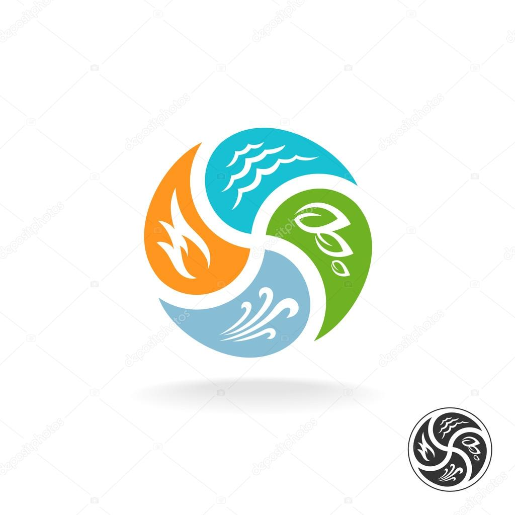 Four natural elements logo.