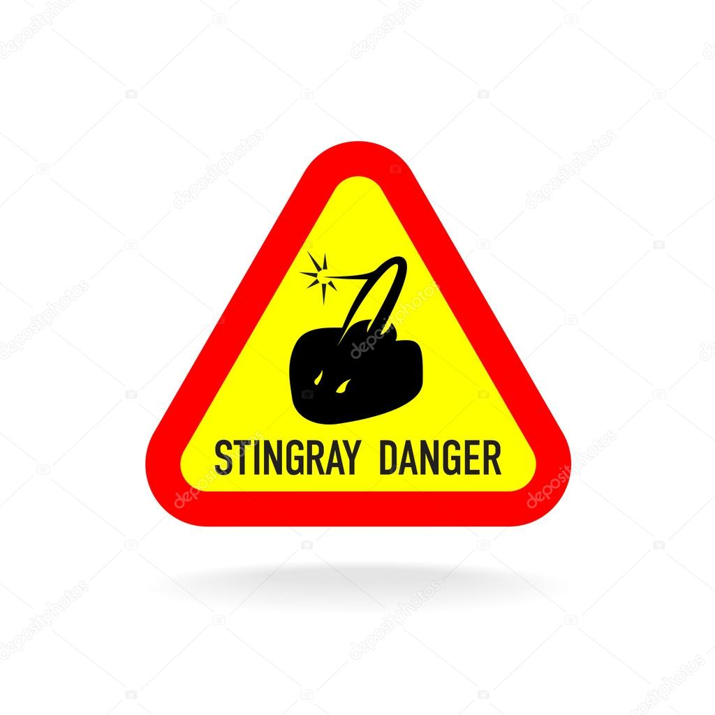 Stingray warning symbol.