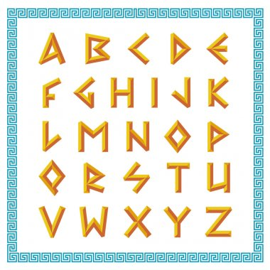 Golden bevel stick style letters.