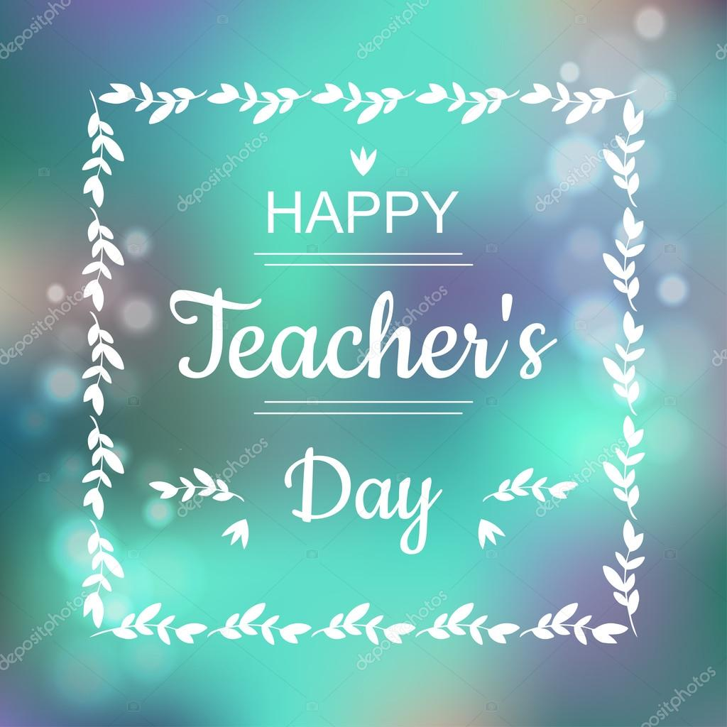 Greeting card for happy teachers day abstract background and text greeting card for happy teachers day abstract background and text in square frame in vector m4hsunfo Image collections