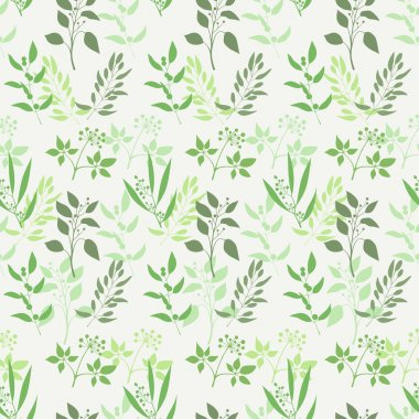 Seamless green plant background
