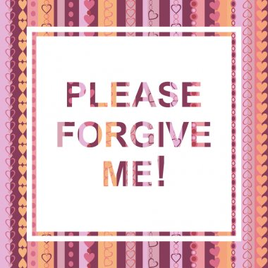 Please forgive me card
