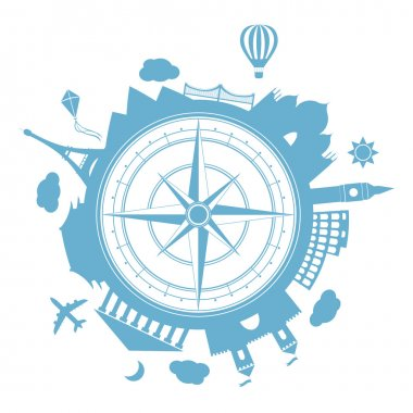 Travel agency vector round icon.