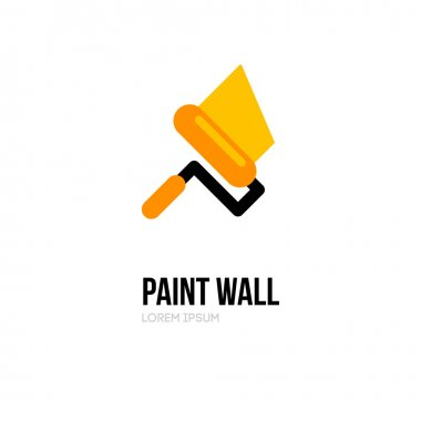 Paint roller logo icon