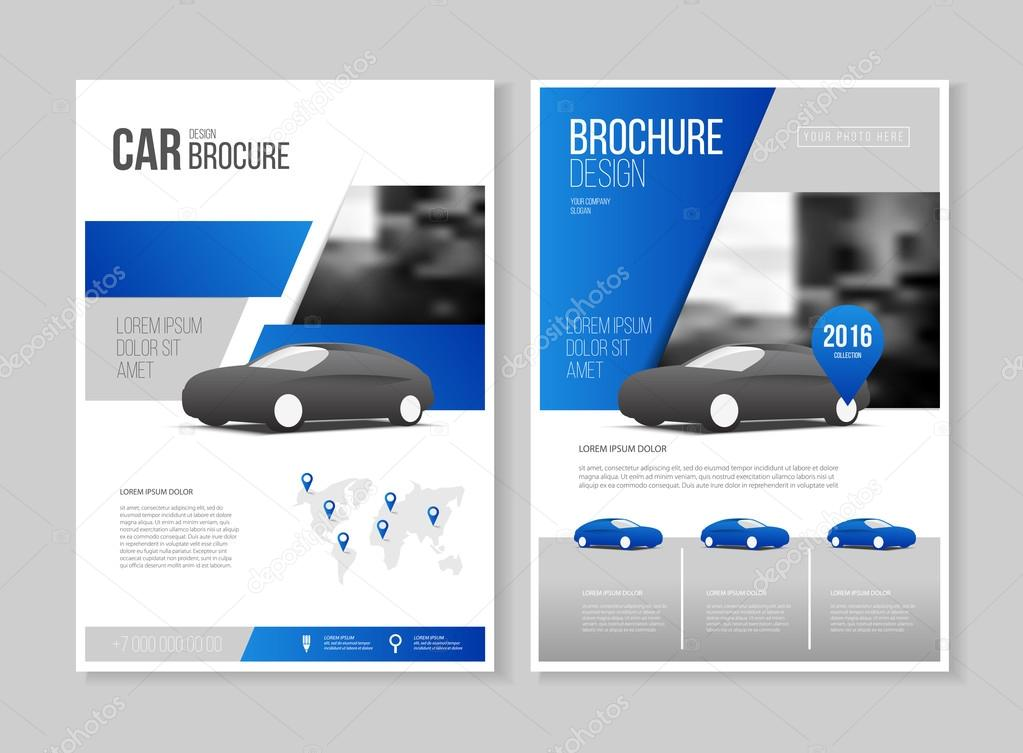 Car brochure auto leaflet brochure vetores de stock for Car brochure templates