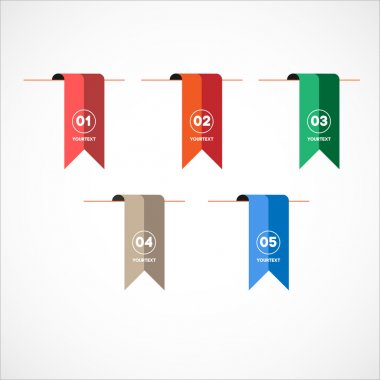 Bookmark Flags  with numbers